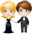 Couple In Evening Wear vector image vector image