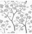 Tree seamless pattern japanese garden background vector image