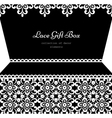 Lacy gift box vector image vector image
