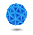 geometric blue vector image