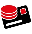 Credit Card And Coins Icon vector image