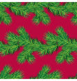 Seamless pattern with Christmas fir tree branch vector image vector image