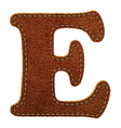 Leather textured letter E vector image vector image