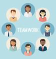 International teamwork Colorful business people vector image