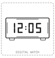 Electronic watch Flat linear icon isolated vector image