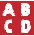 ABCD grunge letters vector image