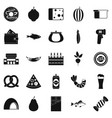 beerhouse icons set simple style vector image