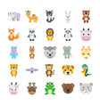 flat icons set of animals vector image