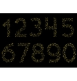 Golden sparkle numbers vector image