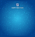 happy new year and merry christmas on blue blurry vector image