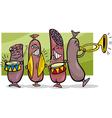 sausages band cartoon vector image