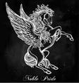 Vintage style Pegasus vector image