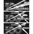 World War One centennial vector image