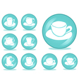 set of cups buttons vector image vector image