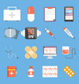 set of medical flat design icons vector image