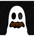 Happy Halloween trick or treat ghost drawing EPS10 vector image