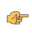 finger pointer hand direction concept line vector image