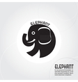 Abstract silhouette elephant vector image