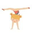 Little gymnast girl character vector image