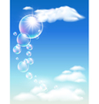 Clouds and bubbles vector image vector image