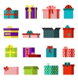 Gift open box set vector image