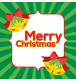 Christmas Bell Blank Space vector image