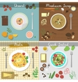 Different dishes set vector image