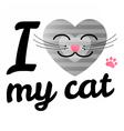 i love may cat vector image