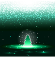 Xmas tree with sparkles vector image vector image