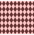 Pink and brown tile pattern vector image