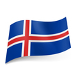 State flag of Iceland vector image