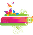 colorful background with butte vector image