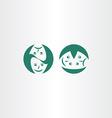theatre masks icon logo symbol vector image