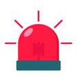 alarm flasher flat icon ambulance and police vector image