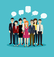 Business people and business teamwork Social Netwo vector image