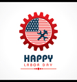 Creative happy labor day greeting stock vector image