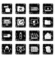 Criminal activity set icons grunge style vector image