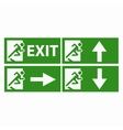 Exit boarders collection isolated vector image