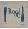 Musical city vector image