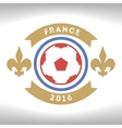Retro the card or an emblem with a soccerball vector image