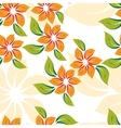seamless floral pattern with orange flowers vector image