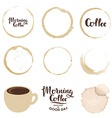 Set of cup stains Morning coffee vector image