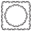 set square and round decorated frame vector image
