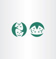 theatre masks icon logo symbol vector image