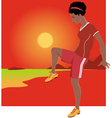 Youth Soccer vector image