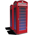 English telephone booth vector image