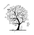 Chemistry tree concept for your design vector image vector image