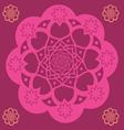 Pink floral mandala vector image vector image