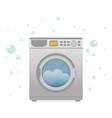 washing machine in flat style modern vector image