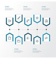 user outline icons set collection of brush vector image